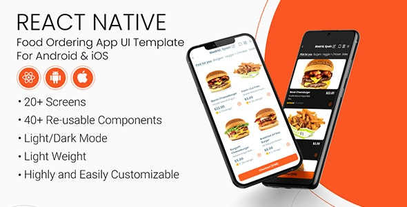 React Food Ordering App UI Template - CodeCanyon Item for Sale