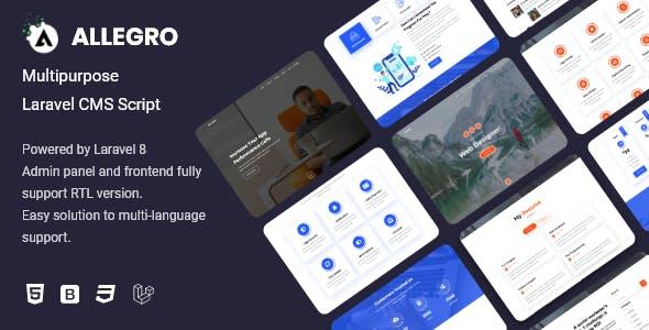 Allegro - Multipurpose Laravel CMS Script
