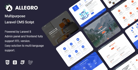 Allegro - Multipurpose Laravel CMS Script - CodeCanyon Item for Sale