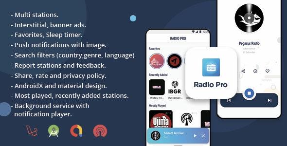 Radio Pro   Multi-station Radio App with Admin  Panel - CodeCanyon Item for Sale
