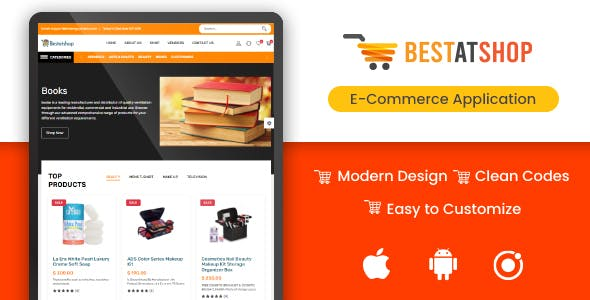 Bestatshop - eCommerce Shopping Script(security+) with Admin Panel (Web +Ionic Android & IOS apps)