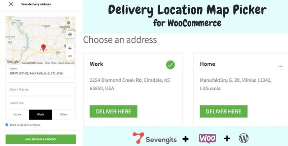 WooCommerce Delivery Location Map Picker