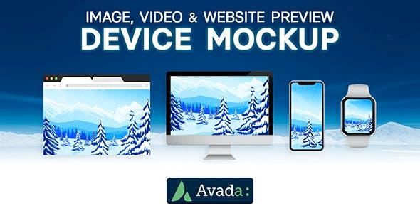 Avada Builder - Device Mockup for Image, Video & Website Preview for Avada Live (v7+)
