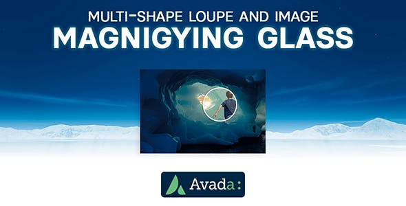 Avada Builder - Multi-Shape Loupe and Image Magnifying Glass for Avada Live (v7+)