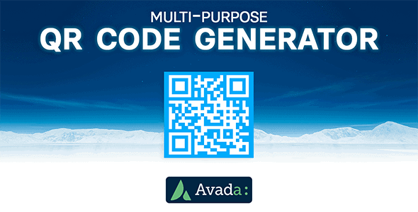 Avada Builder - Multi-Purpose QR Code Generator for Avada Live (v7+) - CodeCanyon Item for Sale