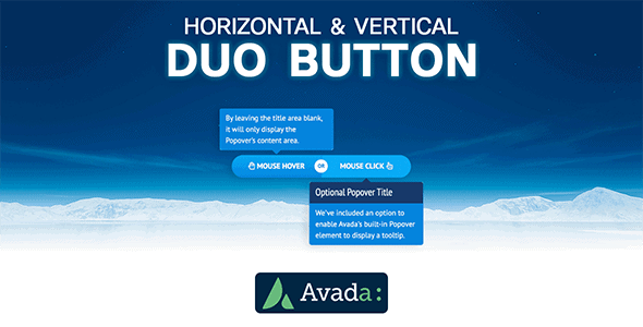 Avada Builder - Horizontal & Vertical Duo Button for Avada Live (v7+) - CodeCanyon Item for Sale