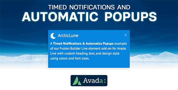 Avada Builder - Timed Notifications & Automatic Pop-ups for Avada Live (v7+)