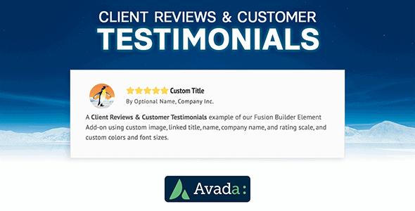 Avada Builder - Client Reviews & Customer Testimonials for Avada Live (v7+)