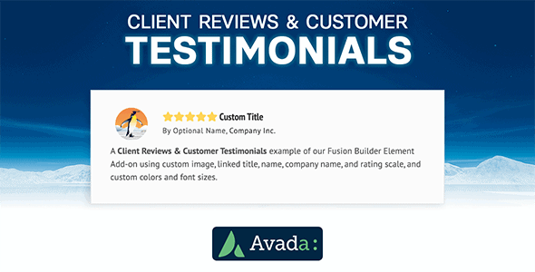 Avada Builder - Client Reviews & Customer Testimonials for Avada Live (v7+) - CodeCanyon Item for Sale