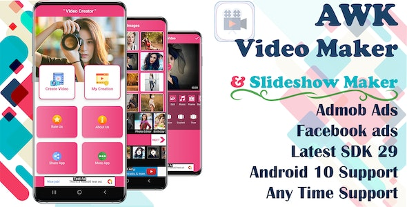 AWK Video Creator With Music (Android 10 Supported) - CodeCanyon Item for Sale