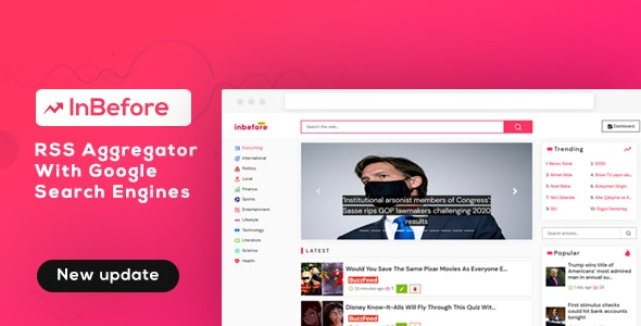 InBefore - News Aggregator with Search Engine - CodeCanyon Item for Sale