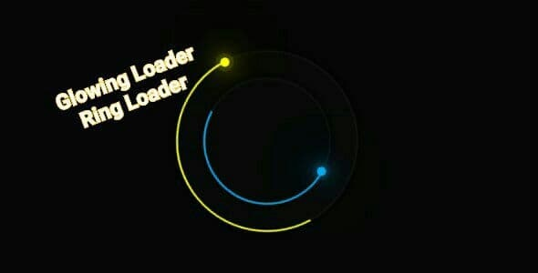 Glowing Loader Ring Animation - CodeCanyon Item for Sale
