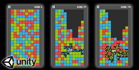 Color Blocks (Unity Source Code) - brain teaser puzzle game
