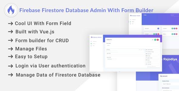 Firebase Firestore Database Admin With Form Builder - Vue.js