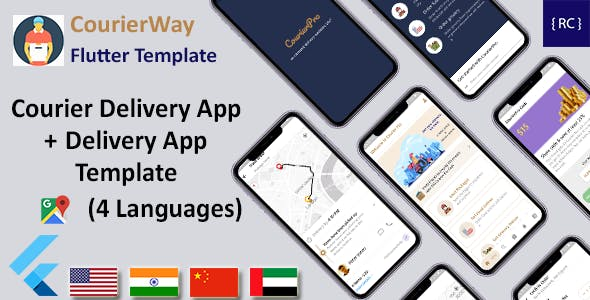 Courier Delivery Flutter Template | 2 Apps | User App & Delivery App | Multi Language | CourierWay