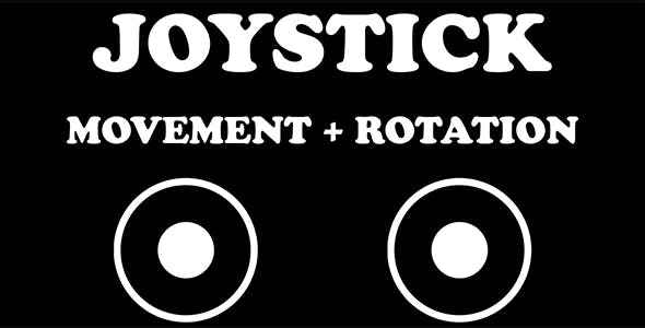 Virtual Joystick Controls (Unity Source Code)  - movement & rotation-simple input multi touch system
