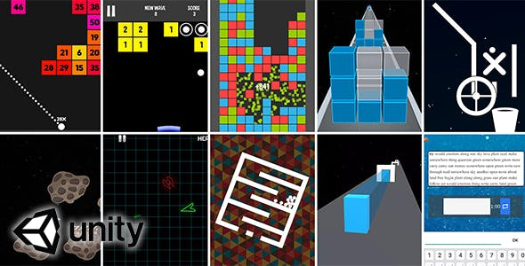 10 In 1 Mega Bundle (Unity source code) - fast pace hyper casual video games