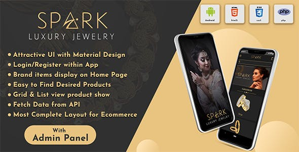 Android App Jewellery Online Shopping App with Admin Panel ( eCommerce Android App)