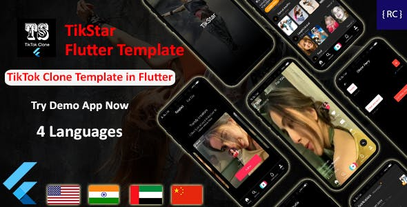 TikTok Clone App Template in Flutter   Multi Language   TikStar
