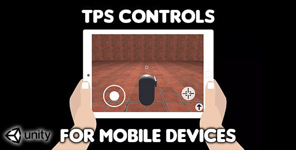 TPS Controls for mobile devices (Unity Source Code) - easy third person shooter virtual controls