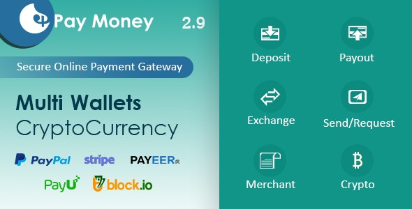 PayMoney v2.9 – Secure Online Payment Gateway – nulled