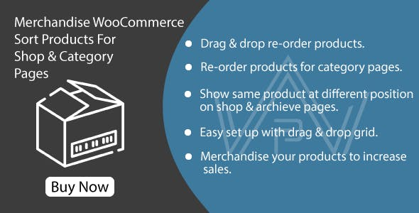 Merchandise WooCommerce - Sort Products For Shop & Category Pages
