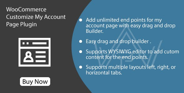 WooCommerce Customize My Account Page Plugin