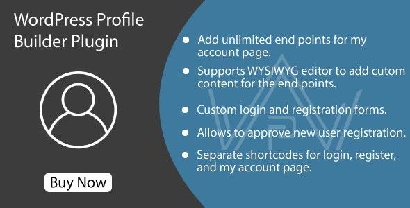 WordPress Profile Builder Plugin - CodeCanyon Item for Sale