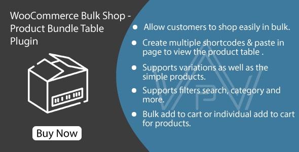 WooCommerce Bulk Shop - Product Bundle Table Plugin - CodeCanyon Item for Sale