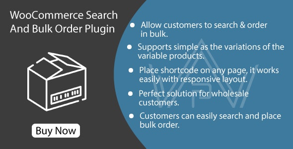 WooCommerce Search And Bulk Order Plugin - CodeCanyon Item for Sale
