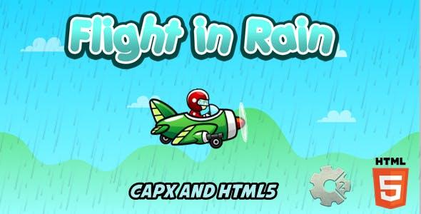 Flight in Rain - Construct 2 Html5 Game
