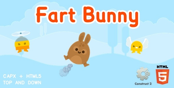 Fart Bunny - Construct 2 Html5 Game - CodeCanyon Item for Sale