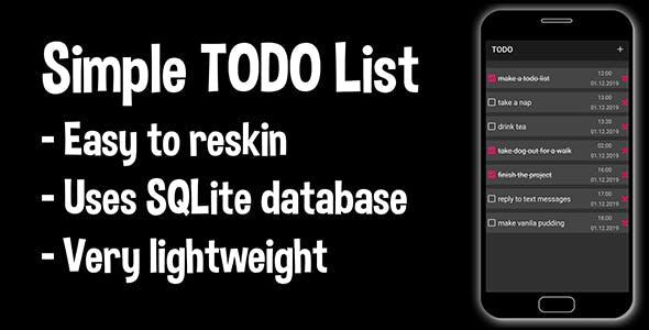 Simple TODO List (Android Source Code)-task management checklist that can help you to stay organized