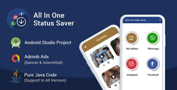 All In One Status Saver - For Whatsapp, Instagram & Facebook - CodeCanyon Item for Sale
