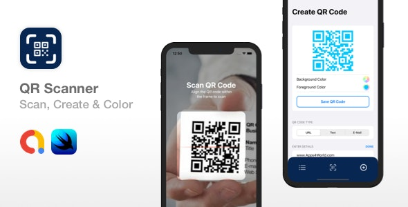 QR Scanner - Create, Color & Scan QR codes | SwiftUI - CodeCanyon Item for Sale
