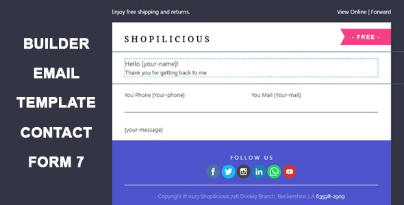 Contact Form 7 Email Template Builder - CodeCanyon Item for Sale