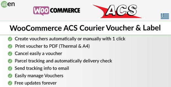 WooCommerce ACS Courier Voucher & Label
