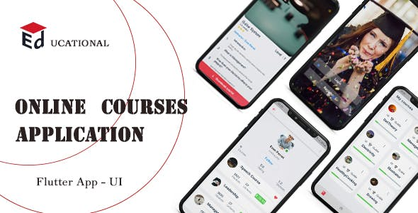 Online Courses  App  Flutter UI