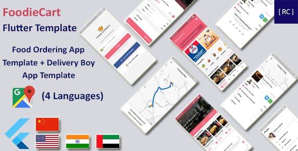Flutter Food | 2 Apps | Food Ordering App + Delivery Boy App Template in Flutter | Multi Language