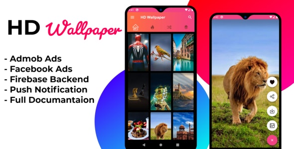 HD Wallpaper Android app with Firebase Backend, Admob and Facebook Ads - CodeCanyon Item for Sale