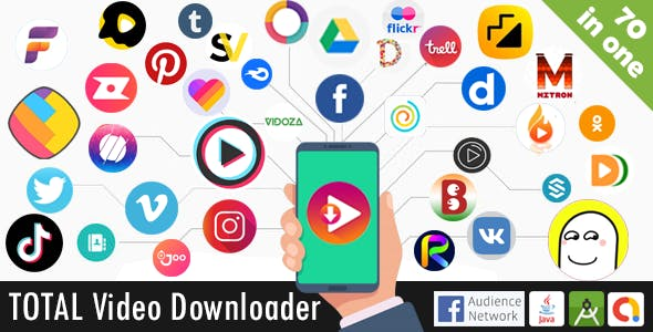 Total Video Downloader Without Watermark Status Saver App ( 70+ sources) -Native Android
