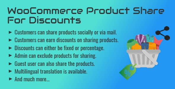 WooCommerce Product Share For Discounts | Share to Earn - CodeCanyon Item for Sale