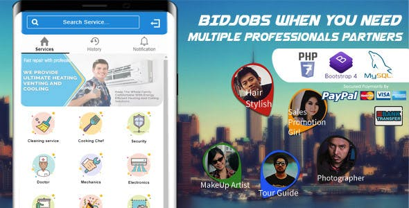 Bid Job Mobile