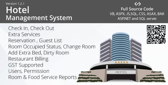 Hotel Management System - VB, ASP.NET, AJAX, Multiple TAX (GST)