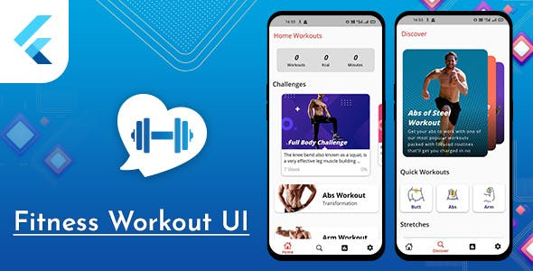 Flutter Fitness Workout UI with admob Template