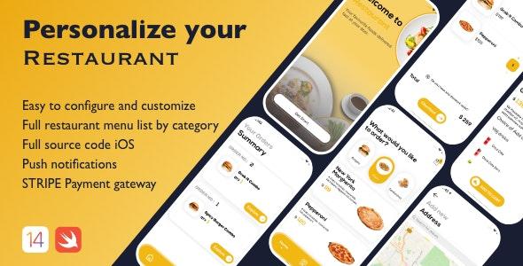 Restaurant App UI Templet - CodeCanyon Item for Sale