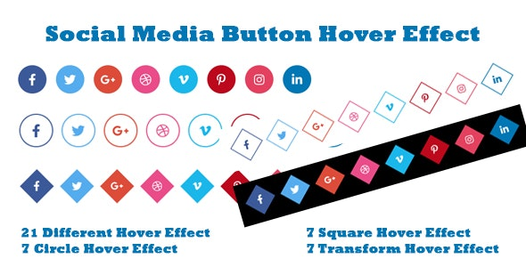 Social Media Button Hover Effect - CodeCanyon Item for Sale