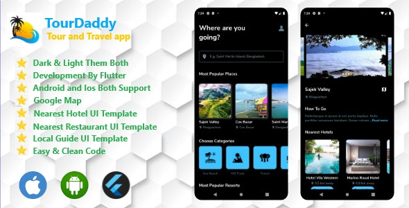 Tour And Travel App By Flutter Both Android and IOS - CodeCanyon Item for Sale