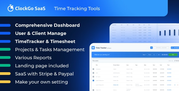 ClockGo SaaS - Time Tracking Tool - CodeCanyon Item for Sale