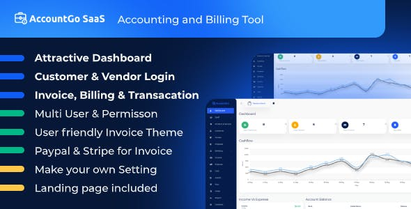 AccountGo SaaS - Accounting and Billing Tool